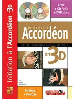 Initiation à l'accordéon in 3D Books, CDs and DVDs / Videos | Accordion