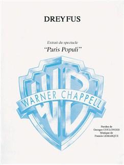 Dreyfus (Extrait du Spectacle Paris Populi) Books | Piano, Vocal & Guitar