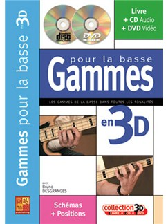 Gammes pour la Basse en 3D Books, CDs and DVDs / Videos | Bass Guitar