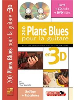200 Plans Blues pour la Guitare en 3D Books, CDs and DVDs / Videos   Guitar Tab