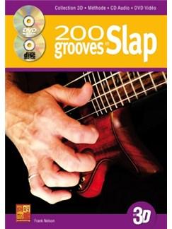 200 Grooves en Slap 3D+CD+DVD Books, CDs and DVDs / Videos | Bass Guitar
