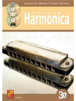 Initiation à l'harmonica en 3D Books, CDs and DVDs / Videos   Harmonica