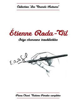 Etienne Roda-Gil: Seize Chansons Inoubliables Books | Piano, Vocal & Guitar