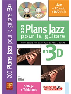 200 Plans Jazz pour la Guitare en 3D Books, CDs and DVDs / Videos | Guitar