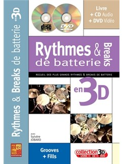 Rythmes & Breaks de Batterie en 3D Books, CDs and DVDs / Videos | Drums