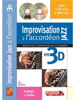 Improvisation Jazz à l'accordéon en 3D Books, CDs and DVDs / Videos | Accordion