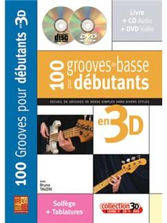 100 Grooves de Basse pour Débutants en 3D Books, CDs and DVDs / Videos | Bass Guitar