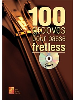 100 Grooves Basse Fretless+CD Books and CDs | Bass Guitar