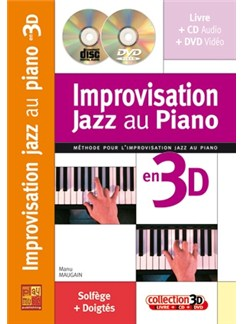 Impro Jazz Au Piano 3D+CD+DVD Books, CDs and DVDs / Videos | Piano