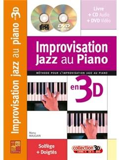 Impro Jazz Au Piano 3D+CD+DVD CD, DVDs / Videos et Livre | Piano