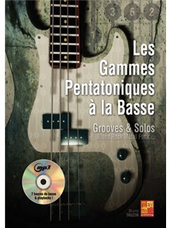 Gammes Pentatoniques Basse+CD Books and CDs | Bass Guitar