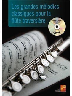 Grandes Melodies Cllass.+CD Books and CDs | Flute