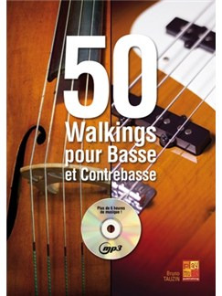 50 Walkings For Bass/CB+CD Books and CDs | Bass Guitar
