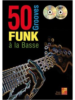 50 Grooves Funk Basse+CD+DVD Books, CDs and DVDs / Videos | Bass Guitar