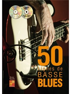 50 Lignes Basse Blues Gtr Bk/Cd/Dvd Books and CDs | Guitar