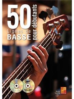 50 Lignes Basse Debutants Bk/Cd/Dvd Books and CDs | Guitar