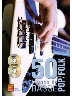 Tauzin 50 Lignes Basse Pop Bk/Cd/Dvd Books and CDs | Bass Guitar