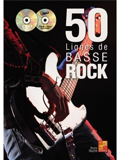 50 Lignes de Basse Rock Books and CDs | Bass Guitar
