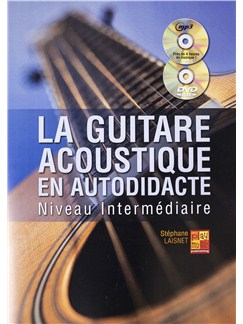 Stephane Laisnet: La Guitare Acoustique En Autodidacte - Niveau Intermediaire (Book/CD/DVD) Books, CDs and DVDs / Videos | Guitar