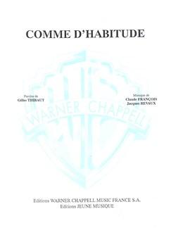 Claude François: Comme D'habitude (My Way) Livre | Piano & Vocal
