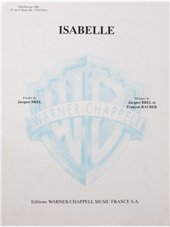 Jacques Brel:  Isabelle Books | Voice, Piano Accompaniment