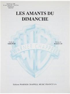 Edith Piaf: Les Amants Du Dimanche Livre | Voix, Accompagnement Piano