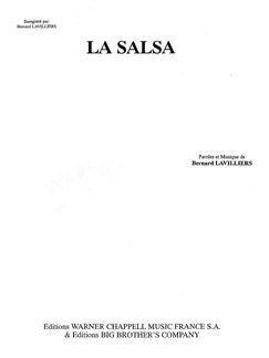 Bernard Lavilliers: La Salsa Books | Voice, Piano Accompaniment
