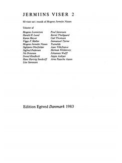 Mogens Jermiin Nissen: Jermiins Viser 2 (Songbook) Bog | Stemme, Tekst og becifring, Klaverakkompagnement
