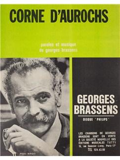 Georges Brassens: Corne D'Aurochs Livre | Voix, Accompagnement Piano