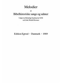 Melodier Til Bibelhistoriske Sange og Salmer Bog | Klaver solo, Orgel, Stemme, Klaverakkompagnement, Orgelledsagelse