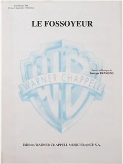 Georges Brassens: Le Fossoyeur Livre | Voix, Accompagnement Piano