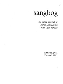 Bente Laursen & Ole Ugilt Jensen: Sangbog (Textbook) Books |