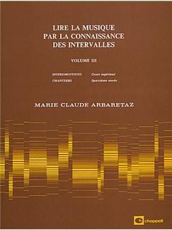 Lire la Musique par La Connaissance des Intervalles Volume 3 Books | All Instruments