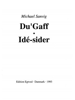 Michael Sanvig: Du'Gaff - Idé-sider (Drums) Books | Drums