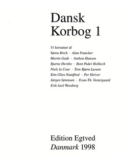 Dansk Korbog 1 (Choral Anthology) Books | SATB