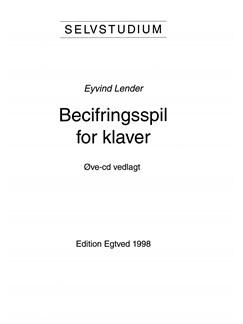 Eyvind Lender: Selvstudium i Becifringsspil (Piano) Bog og CD | Klaver solo