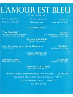 Vicky Leandros: L'Amour Est Bleu Livre | Voix, Accompagnement Piano