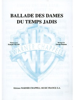 Georges Brassens: Ballade des Dames du Temps Jadis Books | Piano & Vocal