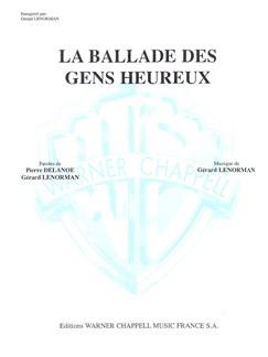 Gerard Lenorman: Ballade des Gens Heureux (La) Books | Piano & Vocal
