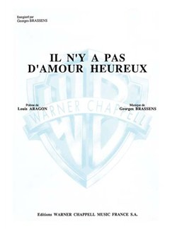 Georges Brassens: Il N'y a Pas D'amour Heureux Books | Piano & Vocal