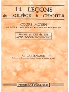 14 Leçons Solfège à Chanter :  Cours Moyen Books | Voice