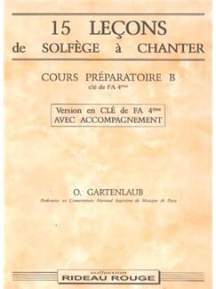 15 Leçons Solfège à Chanter :  Cours Préparatoire B Books | Voice