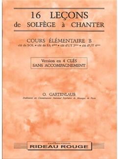 16 Leçons Solfège à Chanter :  Cours Élémentaire B Books | Voice