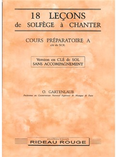 18 Leçons Solfège à Chanter :  Cours Préparatoire A Books | Voice
