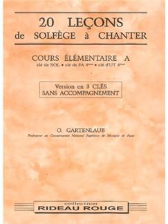 20 Leçons Solfège à Chanter :  Cours Élémentaire A Books   Voice