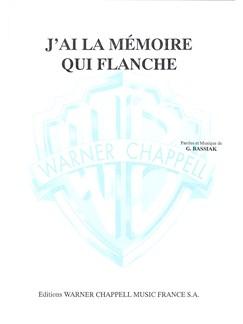J'ai la Mémoire Qui Flanche Books | Piano & Vocal