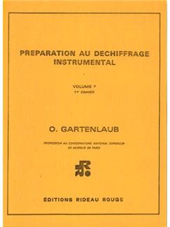 Préparation Au Déchiffrage Instrumental : Volume F, 1er Cahier - Supérieur Livre | All Instruments