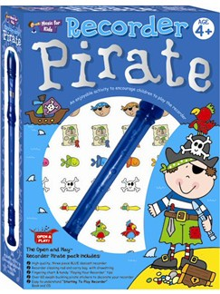 Open And Play Recorder Pirate Pack Books, CDs and Instruments | Soprano (Descant) Recorder, Recorder