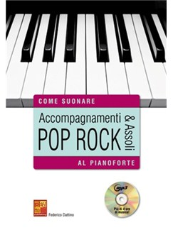 Federico Dattino: Accompagnamenti & Assoli Pop Rock Al Pianoforte (Libro/DVD) DVDs / Videos et Livre | Piano