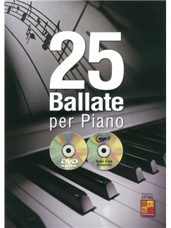 25 Ballate Per Piano (Book/CD/DVD) Books, CDs and DVDs / Videos | Piano